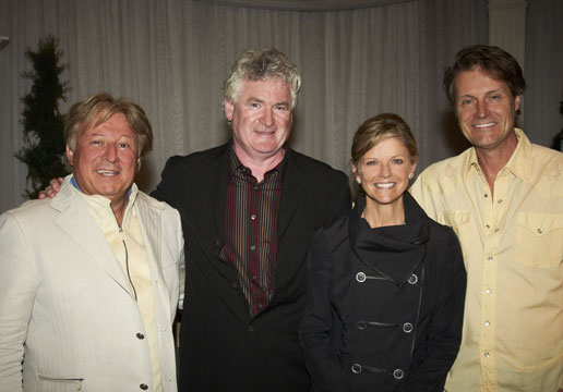 The dynamic duo behind the Songs in the Key of Giving hospices fundraiser Blair and wife Kathy McKeil with performers John McDermott (second from left) and Jim Cuddy (far right).