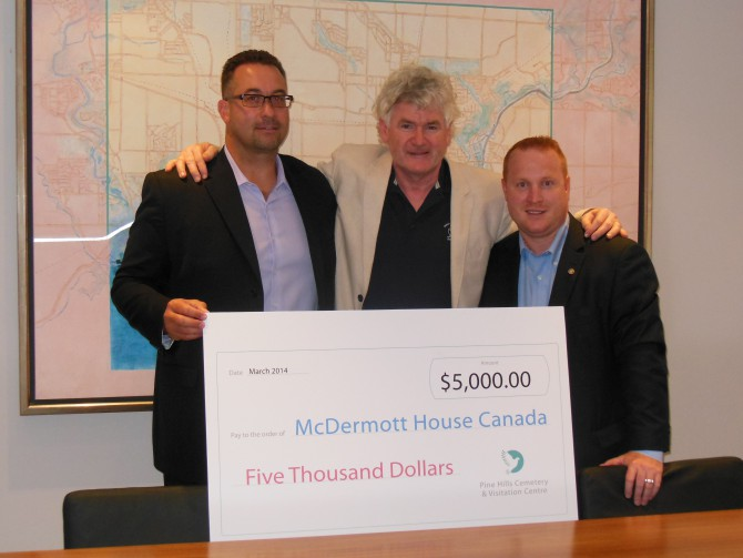 McDermott House announces long term partnership with Pine Hills Cemetery and Funeral Home