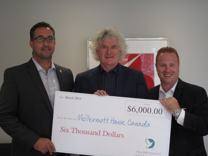 Pine Hills Cemetery once again supports McDermott House