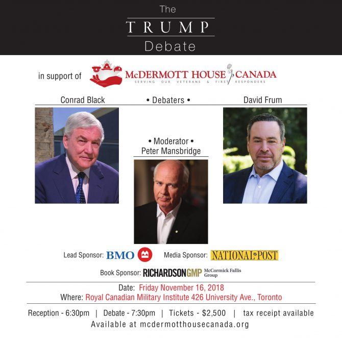 McDermott House Canada Presents: The Trump Debate