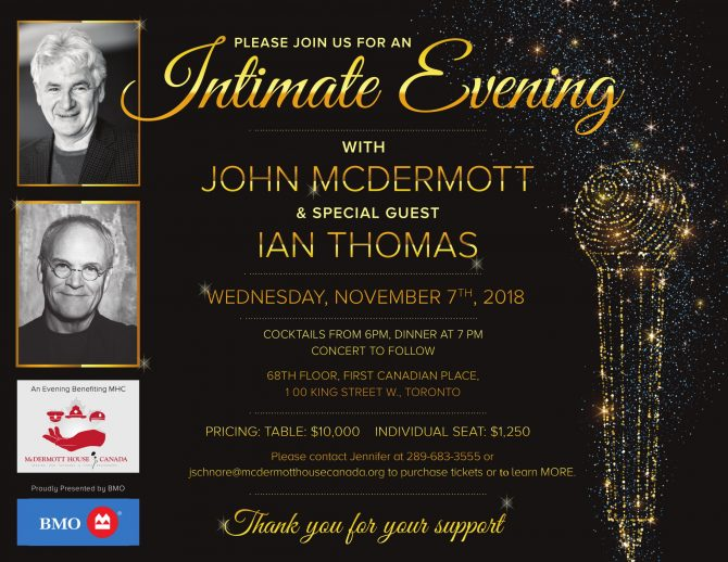 Upcoming Gala: 5th Annual – An Intimate Evening with John McDermott